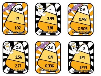 Halloween Decimals-Centers for Grades 4-5