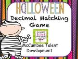 Halloween Decimals Matching Game