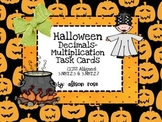 Halloween Decimals-Multiplication Task Cards