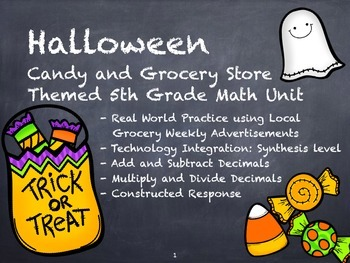 Halloween Decimals Unit with Real-life Supermarket Project