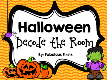 Halloween Decode the Room