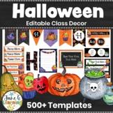 Halloween Decor   Editable Classroom Decor Bundle   Halloween Theme   Fall