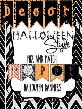 photograph regarding Printable Halloween Banners named Halloween Decor: Delighted Halloween Mixture Recreation Printable Banners