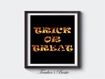Halloween Decor, Printable, Sign, Wall Art, Printable, Poster, Digital Download