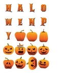 Halloween Decoration Pack 1 (JPG, PDF, PSD files & Fonts)