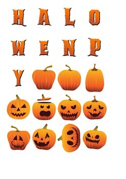 Halloween Decoration Pack 1 (JPG, PDF, PSD files & Fonts)