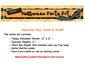 Halloween Decorations Party Kit