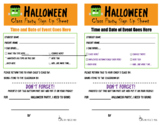 Halloween Delight Sign Up to Bring Stuff Form