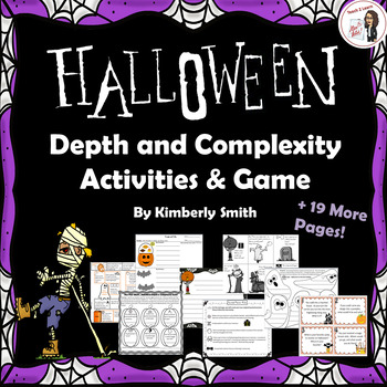Halloween Depth and Complexity Activities and Game