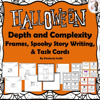 Halloween Depth and Complexity Frames, Spooky Writing Acti