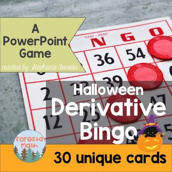 Halloween Derivative Bingo Game