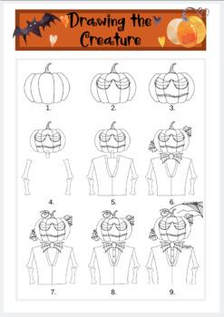 Halloween Description: Writing & Art Activity