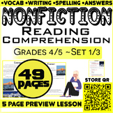 Nonfiction Passages and Questions | Set 1/3 | 46 Pages | G