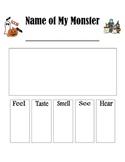 Halloween Descriptive Paper Graphic Organizer
