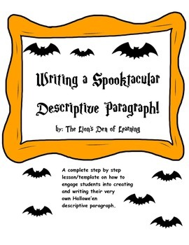 Halloween Descriptive Paragraph Writing