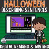 Halloween Descriptive Sentences Writing Activity for Googl
