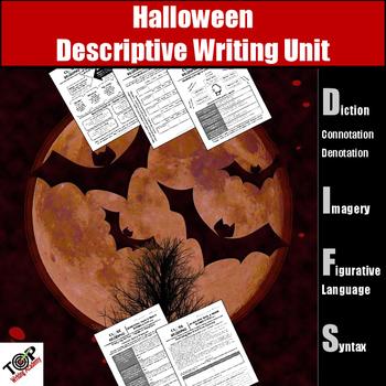 Halloween Creative Descriptive Writing Activities (Figurative Language Imagery)