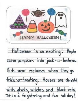 Halloween Descriptive Writing Mini-Unit for First Grade