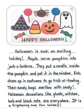 Halloween Descriptive Writing Mini-Unit for Second Grade