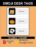 Halloween Desk Tags (Editable on Google Slides)