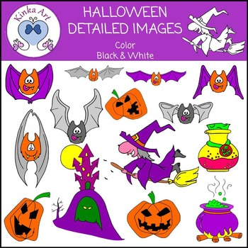 Halloween Detailed Clip Art