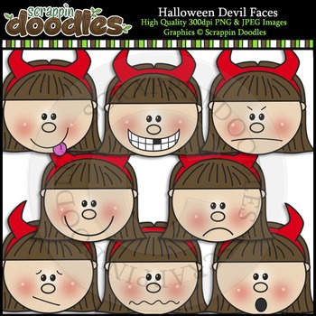 Halloween Devil Faces
