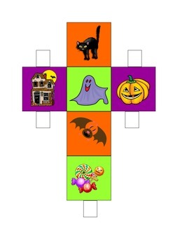 Halloween Dice Speech Therapy Game