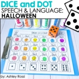 Halloween Dice and Dot For Speech and Language Therapy