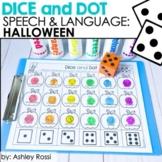 #sept2021SLPsGoDigital Halloween Speech Therapy Activities | Dice and Dot