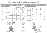 Halloween Dictation Set (Resources Supporting the Kodály Method)