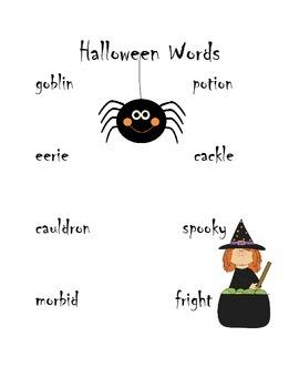 Halloween Dictionary Hunt
