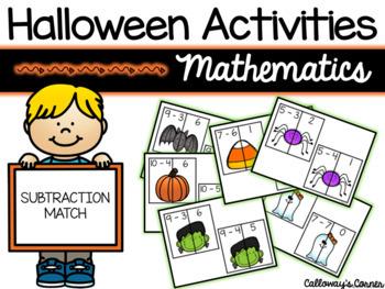 Halloween Subtraction Match