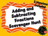 Halloween Differentiated Adding and Subtracting Fractions Scavenger Hunt