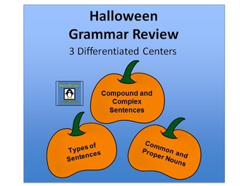 Halloween Differentiated Grammar Centers