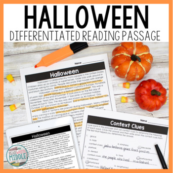 Halloween Differentiated Informational Text Reading Passage & Activities