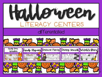 Halloween Differentiated Literacy Centers