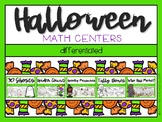 Halloween Differentiated Math Centers