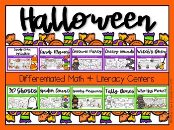 Halloween Differentiated Math and Literacy BUNDLE