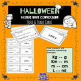 Halloween Differentiated Metric Conversion Quiz Trade task cards 4.MD.1