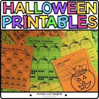 Halloween {Differentiated Print & Go Activities}