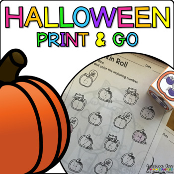 Halloween {Differentiated Print & Go Activities}