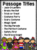 Halloween Differentiated Reading Passages
