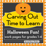 Halloween Math and ELA Differentiated Work Pages for Grades 1-4