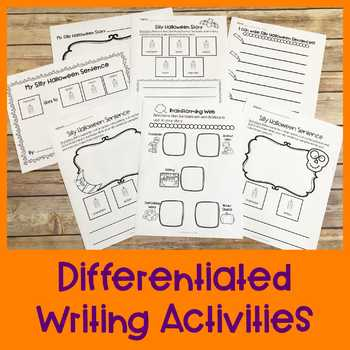 Halloween Differentiated Writing Activity | Special Education Resource