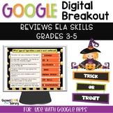 Halloween Digital Breakout - ELA Skills | Distance Learning