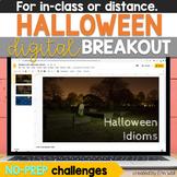 Halloween Digital Breakout for Middle School ELA