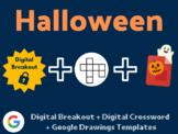 Halloween Digital Bundle (Digital Breakout, Google Drawings, Crossword)