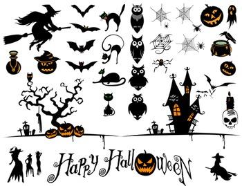 Halloween Digital Clip Art Happy Halloween Clipart