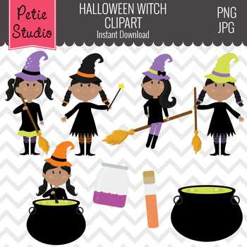 Halloween Digital Clipart, Witch Clipart, Witch Clip Art - Fall144