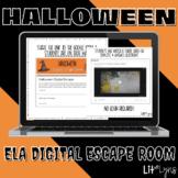ELA Halloween Digital Escape Room | Distance Learning
